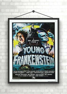 Young Frankenstein Vintage Classic Movie Poster Art Print A0 A1 A2 A3 A4 Maxi