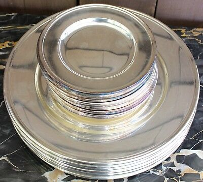 Beautiful Gorham Silverplate Set Of12 Dinner Plates And 12 Matching Bread Plates