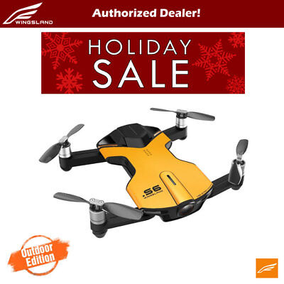 Wingsland S6 V2 Smart Pocket FPV Drone with Extra Battery 4K HD Camera - Yellow