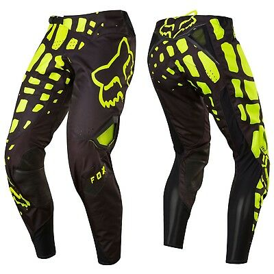 Fox Racing 360 Motocross Mx Pantaloni - Grav Nero/Giallo