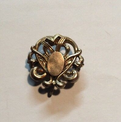 Beautiful Antique Ornate Gold Filled Victorian Watch or Locket Pin