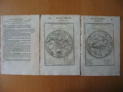 1683 - MALLET - CELESTIAL MAP with print MILKY WAY and text