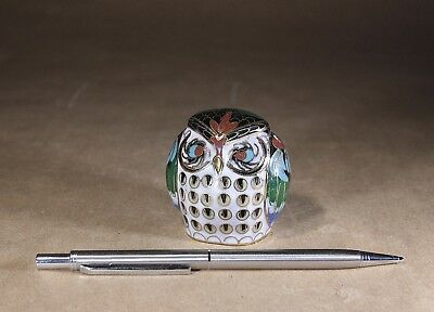 Vintage Chinese Cloisonne Owl