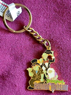 Disneyland Vintage Haunted Mansion Ghosts Metal Key chain - New Condition