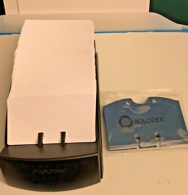 """New Rolodex R-470 - Alpha Tabs Sealed - Clean Business Cards- 4 x 2.2"""" - No Box"""