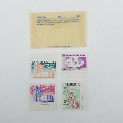 Liberia Stamps 23-1 1956 4 Values #355//C100