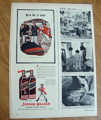 1946 Johnnie Walker Scotch Whiskey Whisky Ad on a Ocean Cruise Liner