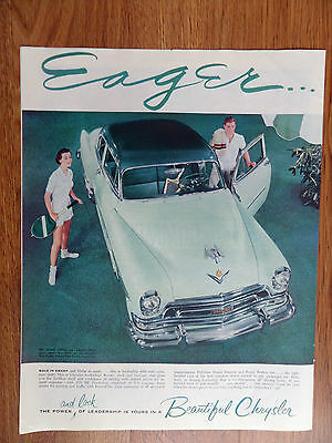 1954 Chrysler New Yorker Club Coupe Ad Sea Island Green over Valley Green