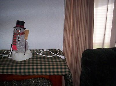 Vintage Avon Chilly Sam  Melted Plastic Color Changing  Light Up Snowman Works!