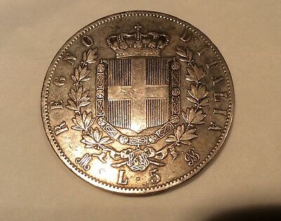 Collectable silver coin - 1869, Victor Emanuele.