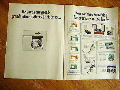 1966 Singer Sewing Machine Ad We Gave Your Great-Grandmother a Merry Christmas