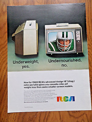 1969 RCA TV Television Ad   Portable    Football Theme