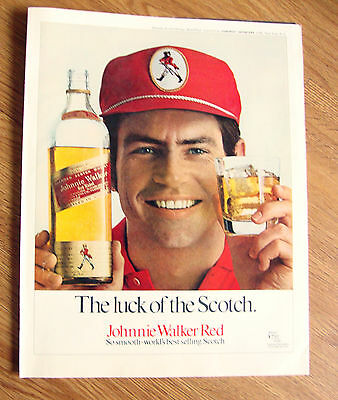 1970 Johnnie Walker Red Whiskey Ad  The Luck of the Scotch