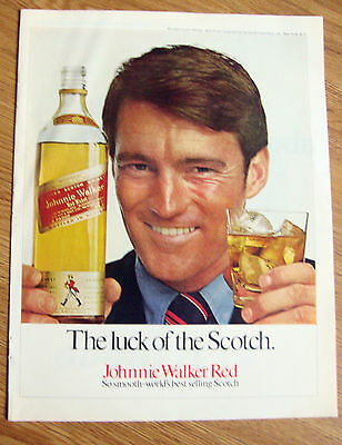 1971 Johnnie Walker Red Whiskey Ad  The Luck of the Scotch