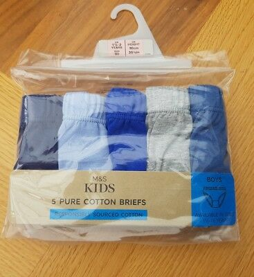 boys 5 pack of pure cotton Underpants age 18-24 months