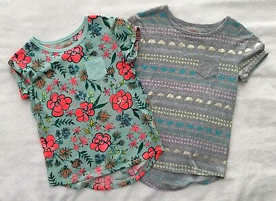 Lot of 2 Girls Cat & Jack Print T-Shirts  Size  M 7-8
