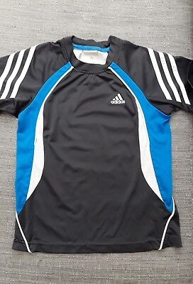 Adidas Boys Climacool Sports Top. Age 7/8 yrs. Black/Blue/White.