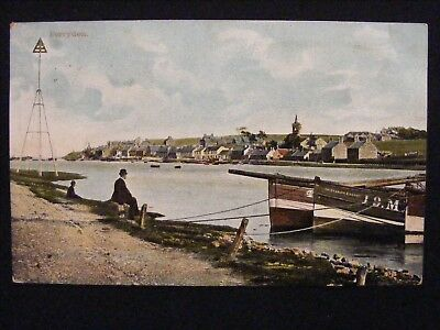 1904 Ferryden Montrose Angus Postcard With Fishing Boat Star Of The East