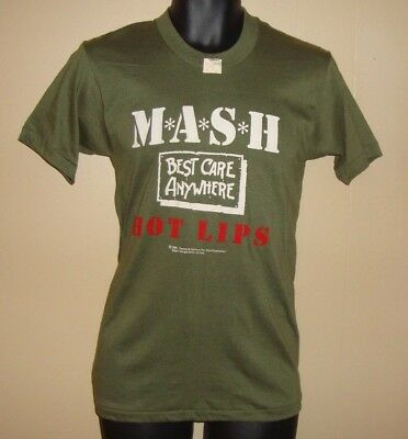 Vintage VERY RARE NWT 80's TV Show MASH Hot Lips 4077th T-shirt Tee Top Size L