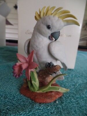 "Lenox Exotic Bird Collection Fine Porcelain figurine ""Cockatoo"" FREE SHIPPING!!"