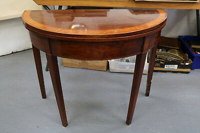 Smashing Early Victorian Mahogany/Cross Banded & Inlaid Card Table