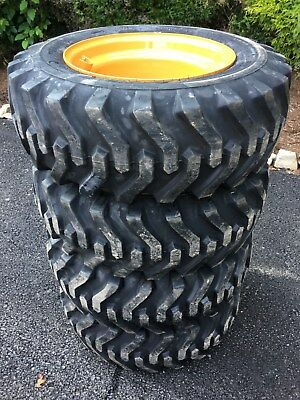 4 NEW Camso sks332 10X16.5 Skid Steer Tires & Rims for Case 1840, 1838 - 6 lug