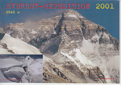 Mount Everest 2001 HIMALAYA EXPEDITION signiert signed