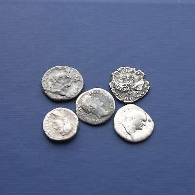Group Of 5 Silver Roman Coins Good Research Group