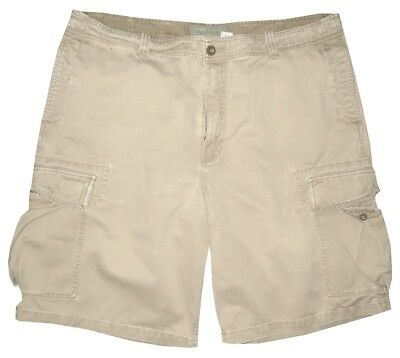 Old Navy Light Khaki Vintage Distressed Military Cargo Mens Shorts 38 40
