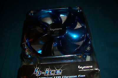 BRAND NEW bgears computer fan b-ice 120mm led chrome fan