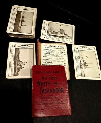 SPANISH AMERICAN WAR 1898 MAINE OLYMPIA BATTLE SHIPS 52 Card Game-complete set