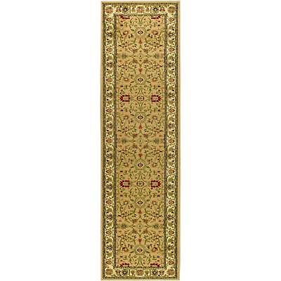 Lyndhurst Beige Ivory Runner Rug 2 x 14 ft. Power Loomed Weave Polypropylene New