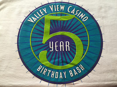 5 Year Birthday Bash Valley View Casino San Diego's Favorite CA Tee T-Shirt XL