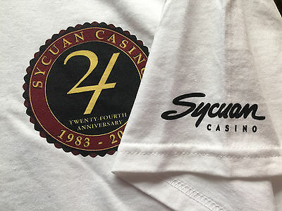 Sycuan Casino 24th Anniversary 83-2007 Tee T-Shirt XL Players gift item souvenir