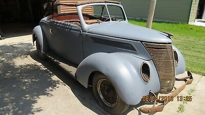 1937 Ford Model 78 Deluxe 1937 Ford Rumble Seat Cabriolet Hot Rod, Rat Rod, Custom