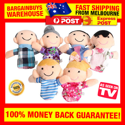 6pcs Family Finger Puppets Cloth Dolls Baby Educational Story Learning Kids Toy