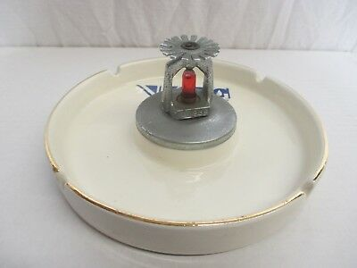 Vintage 1984 Ceramic Fire Sprinkler Ashtray Viking Fire Protection Company Rare