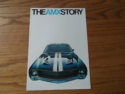 1968 Amx Dealership Brochure.american Motors.290, 343, 390 V-8,red Line Tires.