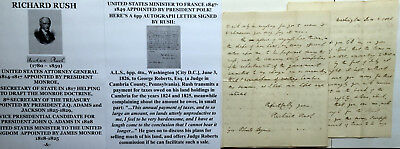 President Monroe Atty General Secy State Adams Vp Candidate Letter Signed 1826 !