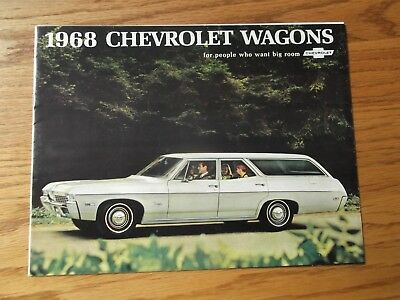 1968 Chevrolet Station Wagon Car Dealership Brochure.impala.nomad.