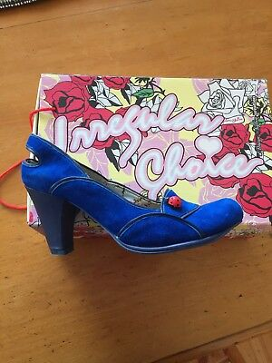 Irregular Choice Size 38 Left 39 Right Odd Pair Blue Lady Bug For Odd Feet