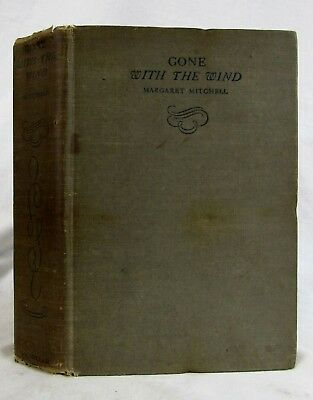 1936 GONE WITH THE WIND Margaret Mitchell  1ST ED 3RD PRINTING Southern Romance