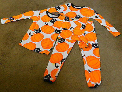 Carters Girls Fall Halloween Matching Outfit PJ's Size 3T