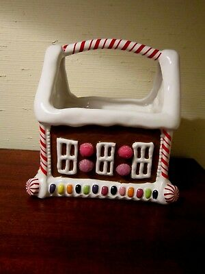Teleflora Gingerbread House W/handle - Planter/holder For Christmas Cards/recd.