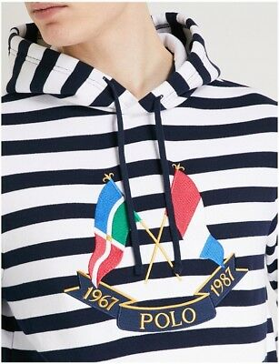 87b80f414 Polo Ralph Lauren Cross Flags Hoodie Vintage CP-93 Stadium 92 Hi Tech Large