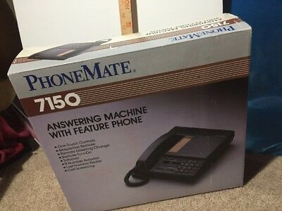 Phonemate 7150 Answering Machine With Feature Phone New Vintage
