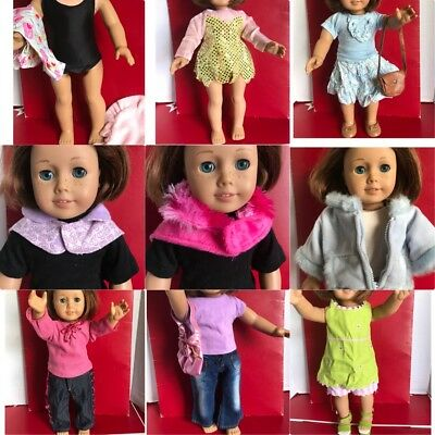 """Doll Clothes LOT Fits 18"""" American Girl  Outfits With Accesorios"""