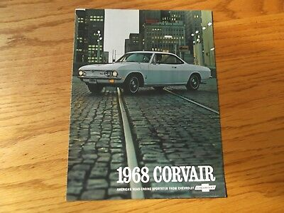 1968 Chevrolet Corvair Car Dealership Brochure.rear Engine Sportster.
