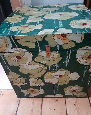 trunk wooden box graham and green £250 handpainted 45x45x45cm