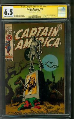 Captain America 113 CGC 6.5 SS Stan Lee sign Jim Steranko cover 1969 Avengers